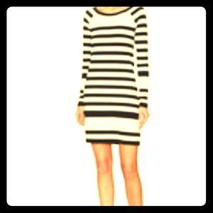 DVF CREAM/BLACK LITTLE DRESS